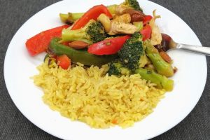Broccoli, Chicken and Nut Stir Fry