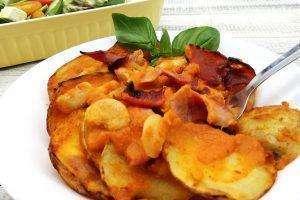 BAcon, Bean and Vegetable Bake