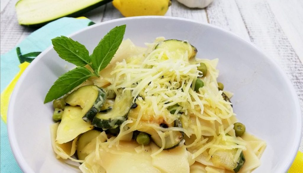 Courgette, Lemon and Pea Pasta
