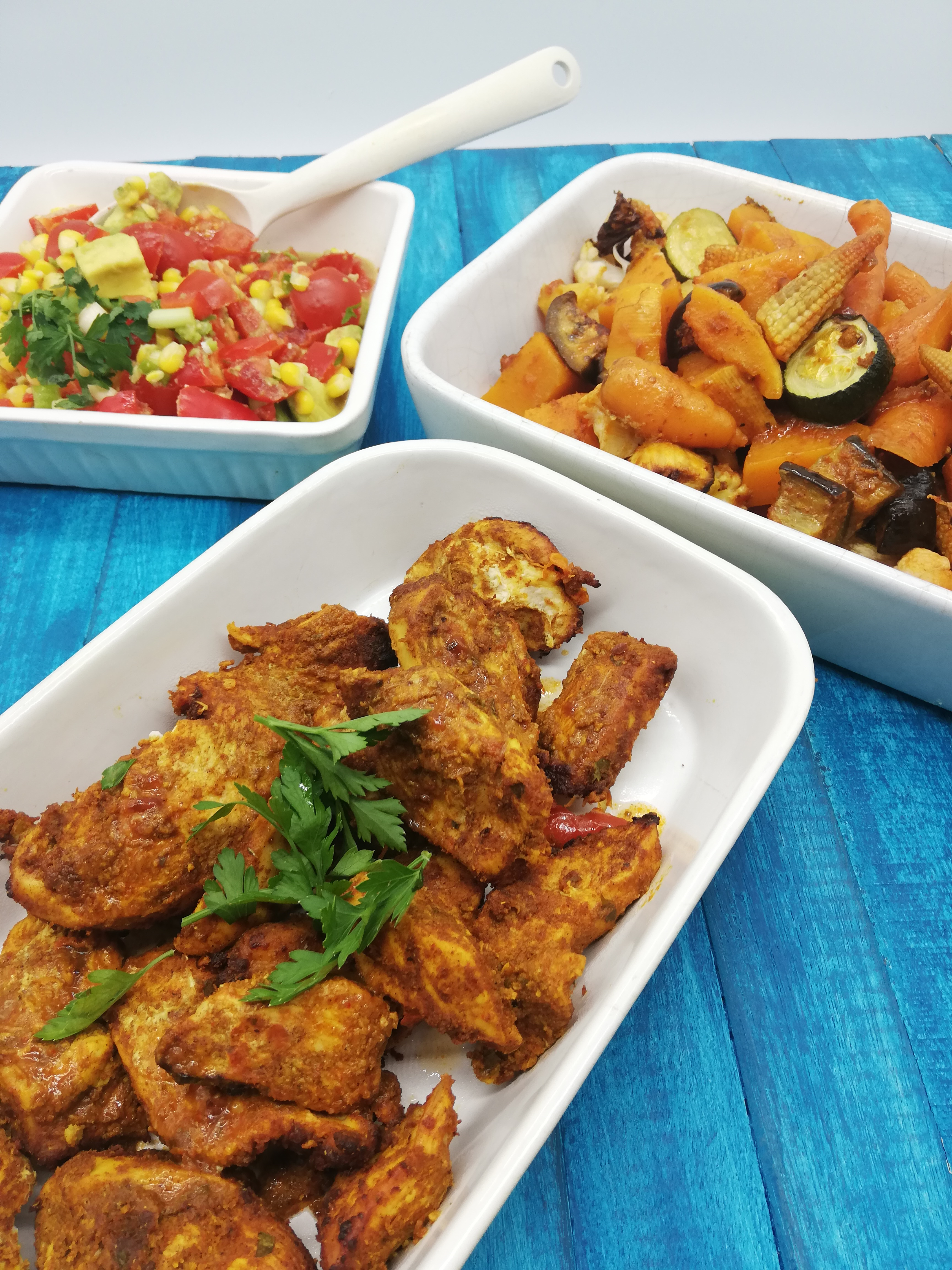 Shawarma Chicken and Vegetables